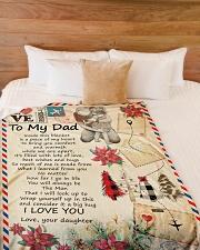 "To My Dad - Letter - Fleece Blanket Large Fleece Blanket - 60"" x 80"" aos-coral-fleece-blanket-60x80-lifestyle-front-02"