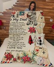 "To My Dad - Letter - Fleece Blanket Large Fleece Blanket - 60"" x 80"" aos-coral-fleece-blanket-60x80-lifestyle-front-04"