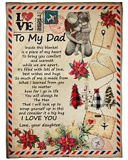 """To My Dad - Letter - Fleece Blanket Large Fleece Blanket - 60"""" x 80"""" front"""