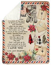 "To My Dad - Letter - Fleece Blanket Large Sherpa Fleece Blanket - 60"" x 80"" thumbnail"