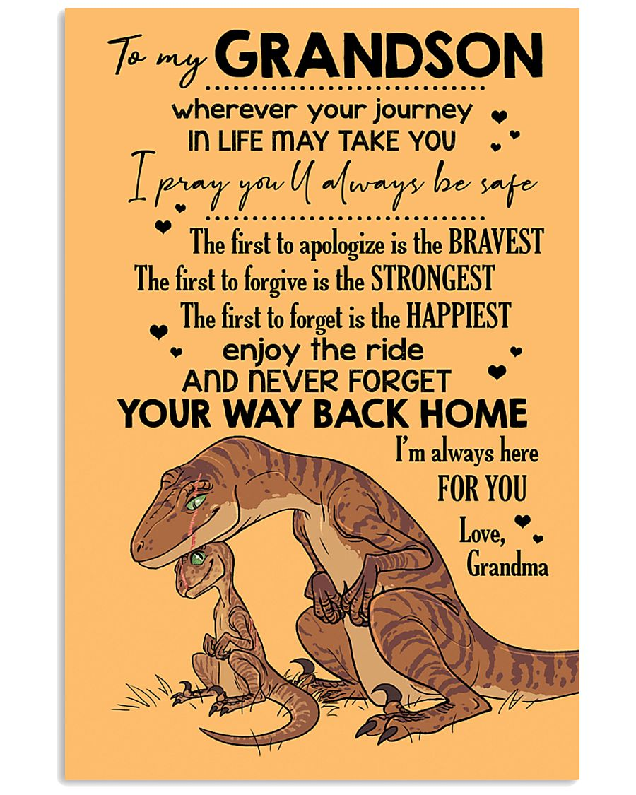 GRANDMA TO GRANDSON - VELOCIRAPTOR - THE FIRST 16x24 Poster