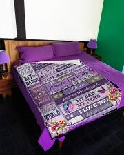 """To My Dad - Fleece Blanket Large Fleece Blanket - 60"""" x 80"""" aos-coral-fleece-blanket-60x80-lifestyle-front-01"""