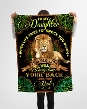 """Daughter - Lions - When Life Tries To Knock You  Small Fleece Blanket - 30"""" x 40"""" aos-coral-fleece-blanket-30x40-lifestyle-front-14"""