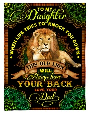 """Daughter - Lions - When Life Tries To Knock You  Small Fleece Blanket - 30"""" x 40"""" front"""