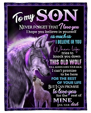 "To My Son - Wolf - Never Forget That I Love You Small Fleece Blanket - 30"" x 40"" front"