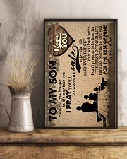 To My Son - Fishing - Wherever Your Journey 16x24 Poster lifestyle-poster-3