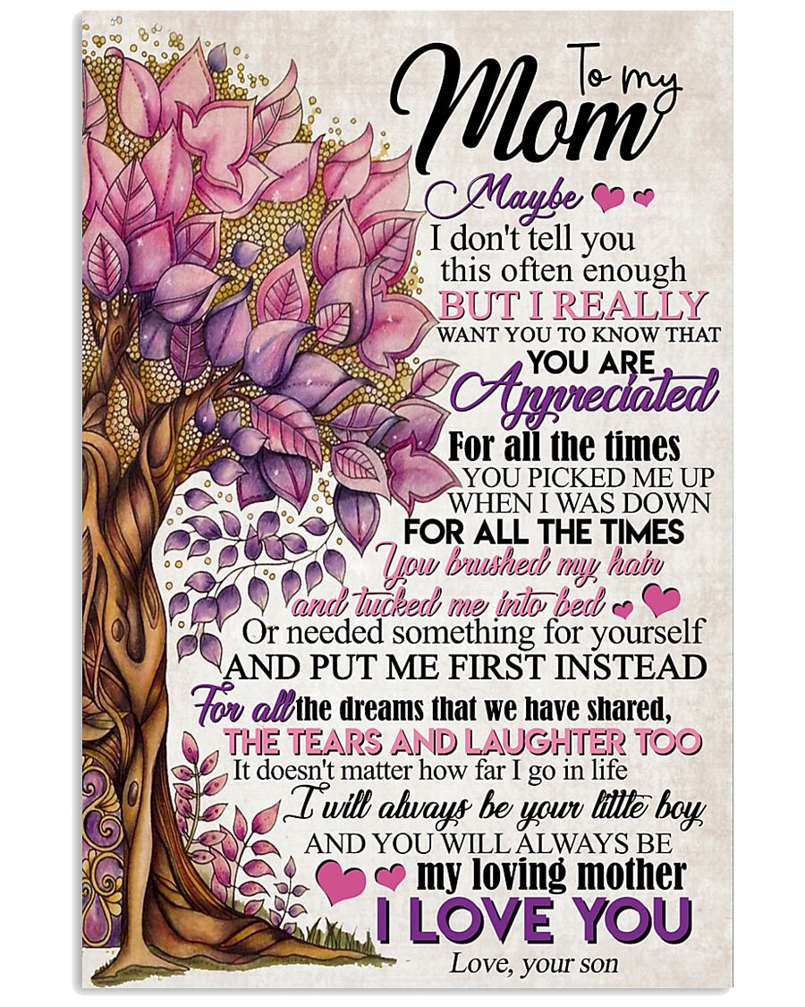 TO MY MOM - TREE 16x24 Poster