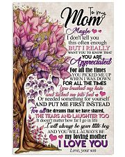 TO MY MOM - TREE 16x24 Poster front