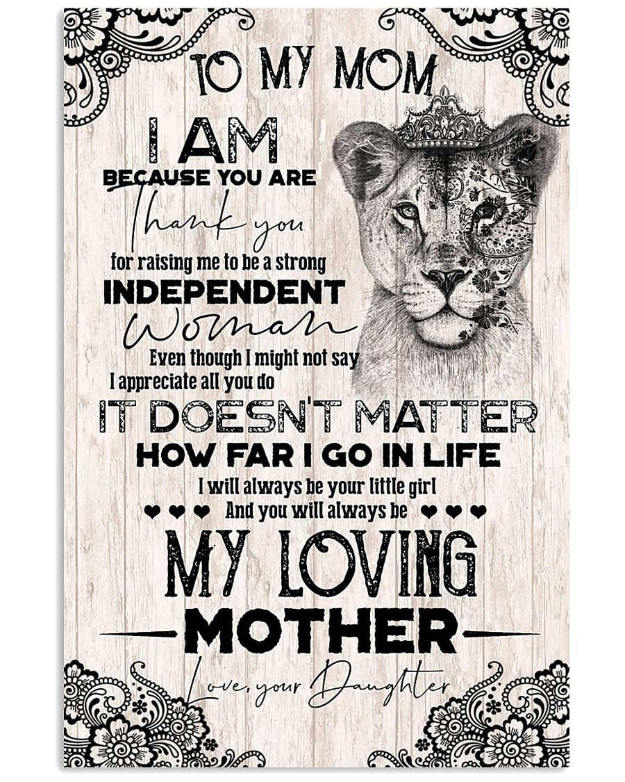 TO MY MOM - LIONESS - THANK YOU 16x24 Poster