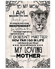TO MY MOM - LIONESS - THANK YOU 16x24 Poster front