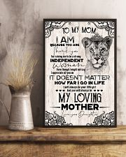 TO MY MOM - LIONESS - THANK YOU 16x24 Poster lifestyle-poster-3