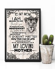 TO MY MOM - LIONESS - THANK YOU 16x24 Poster lifestyle-poster-8