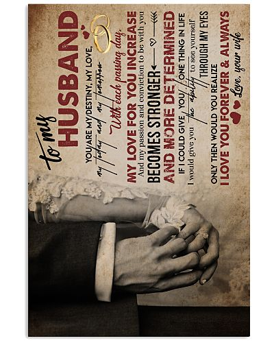POSTER - TO MY HUSBAND - HAND IN HAND - MISS YOU