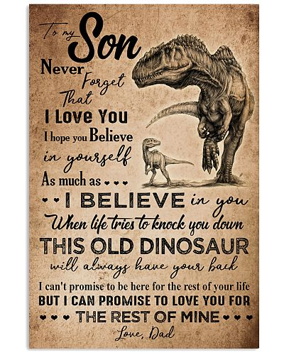 DAD TO MY SON - PENCIL ART DINO - NEVER