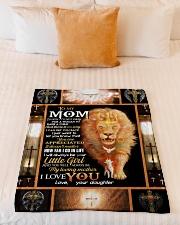 """FLEECE BLANKET - TO MY MOM - LION Small Fleece Blanket - 30"""" x 40"""" aos-coral-fleece-blanket-30x40-lifestyle-front-04"""
