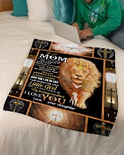 """FLEECE BLANKET - TO MY MOM - LION Small Fleece Blanket - 30"""" x 40"""" aos-coral-fleece-blanket-30x40-lifestyle-front-07"""
