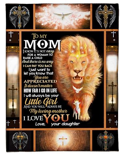 FLEECE BLANKET - TO MY MOM - LION