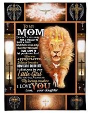 "FLEECE BLANKET - TO MY MOM - LION Small Fleece Blanket - 30"" x 40"" front"