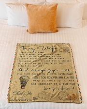 """To My Wife - Once Upon A Time - Fleece Blanket Small Fleece Blanket - 30"""" x 40"""" aos-coral-fleece-blanket-30x40-lifestyle-front-04"""