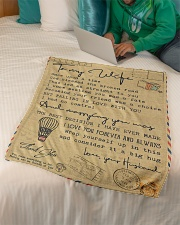 """To My Wife - Once Upon A Time - Fleece Blanket Small Fleece Blanket - 30"""" x 40"""" aos-coral-fleece-blanket-30x40-lifestyle-front-07"""