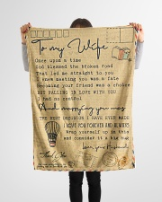 """To My Wife - Once Upon A Time - Fleece Blanket Small Fleece Blanket - 30"""" x 40"""" aos-coral-fleece-blanket-30x40-lifestyle-front-14"""