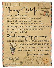 """To My Wife - Once Upon A Time - Fleece Blanket Small Fleece Blanket - 30"""" x 40"""" front"""