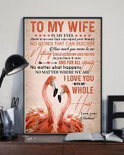 TO MY WIFE - FLAMINGO - I LOVE YOU 16x24 Poster lifestyle-poster-2
