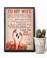 TO MY WIFE - FLAMINGO - I LOVE YOU 16x24 Poster lifestyle-poster-8