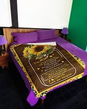 """To My Mom - Fleece Blanket Large Fleece Blanket - 60"""" x 80"""" aos-coral-fleece-blanket-60x80-lifestyle-front-01"""
