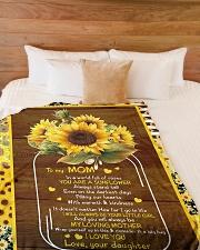 """To My Mom - Fleece Blanket Large Fleece Blanket - 60"""" x 80"""" aos-coral-fleece-blanket-60x80-lifestyle-front-02"""