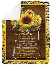 To My Mom - Fleece Blanket Sherpa Fleece Blanket tile