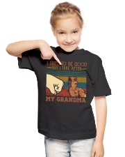 GRANDMA TO GRANDSON - HIGH FIVE - TAKE AFTER Youth T-Shirt lifestyle-youth-tshirt-front-2