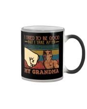 GRANDMA TO GRANDSON - HIGH FIVE - TAKE AFTER Color Changing Mug thumbnail