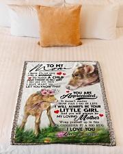 """To My Mom - Cow - Fleece Blanket Small Fleece Blanket - 30"""" x 40"""" aos-coral-fleece-blanket-30x40-lifestyle-front-04"""
