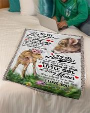 """To My Mom - Cow - Fleece Blanket Small Fleece Blanket - 30"""" x 40"""" aos-coral-fleece-blanket-30x40-lifestyle-front-07"""