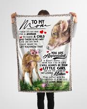"""To My Mom - Cow - Fleece Blanket Small Fleece Blanket - 30"""" x 40"""" aos-coral-fleece-blanket-30x40-lifestyle-front-14"""