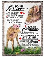 "To My Mom - Cow - Fleece Blanket Small Fleece Blanket - 30"" x 40"" front"