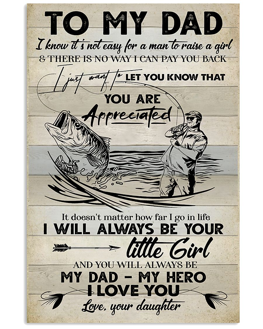 POSTER - TO MY DAD - FISHING 16x24 Poster