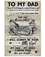 POSTER - TO MY DAD - FISHING 16x24 Poster front