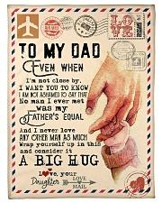 """To My Dad - Hands - Fleece Blanket Small Fleece Blanket - 30"""" x 40"""" front"""