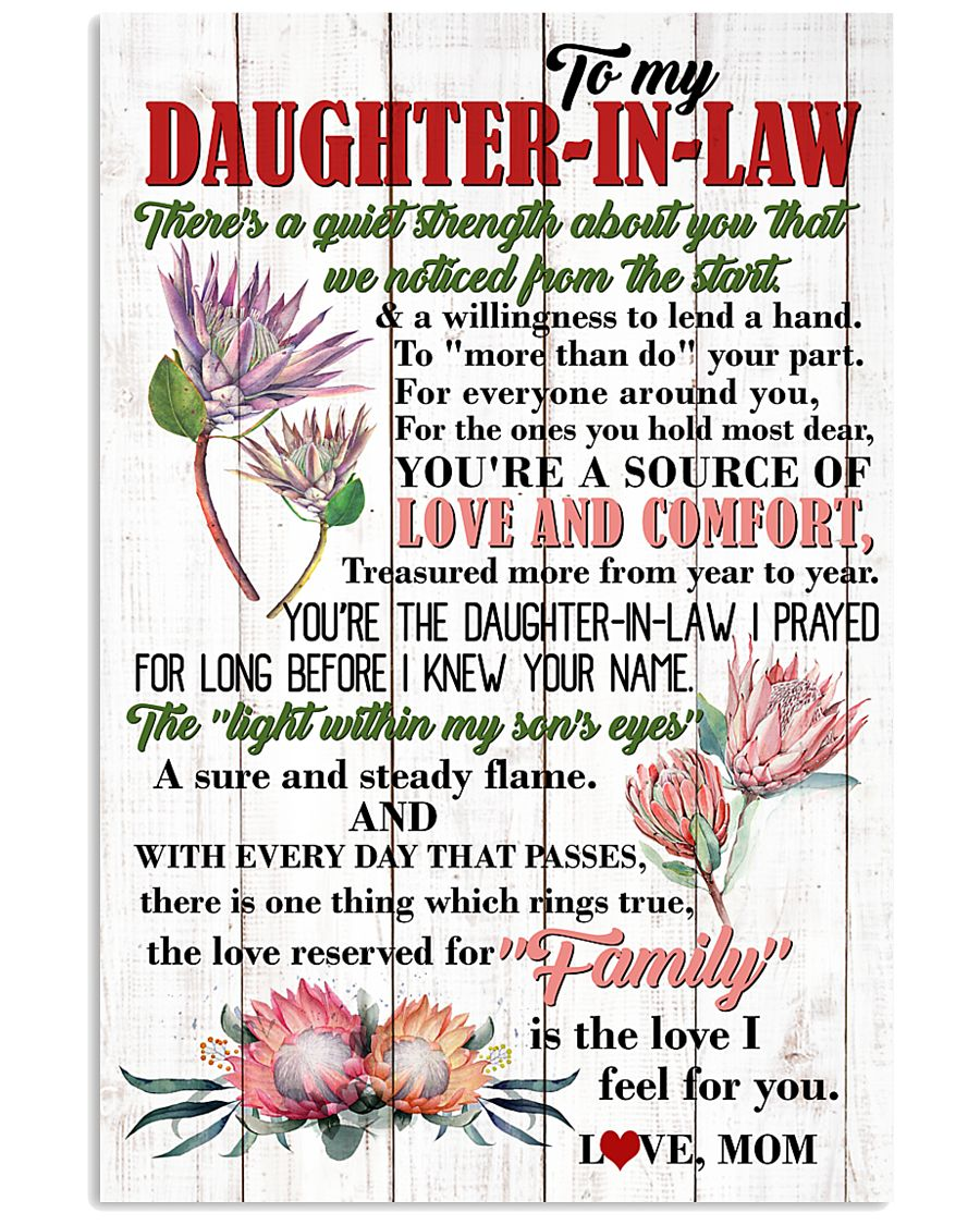 DAUGHTER-IN-LAW - PROTEA - FAMILY IS THE LOVE 16x24 Poster