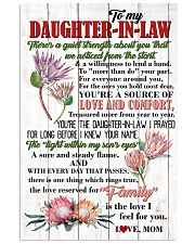 DAUGHTER-IN-LAW - PROTEA - FAMILY IS THE LOVE 16x24 Poster front