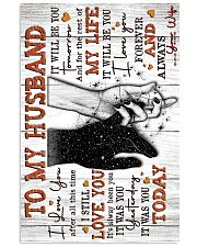 Wife to Husband - Hand In HAnd - I Love You After 16x24 Poster front