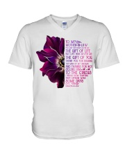 TO MY MOTHER-IN-LAW - ANEMONE -THANK YOU V-Neck T-Shirt thumbnail