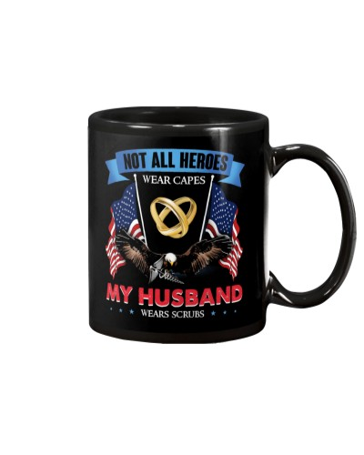MUG - MY HUSBAND WEARS SCRUBS - EAGLE