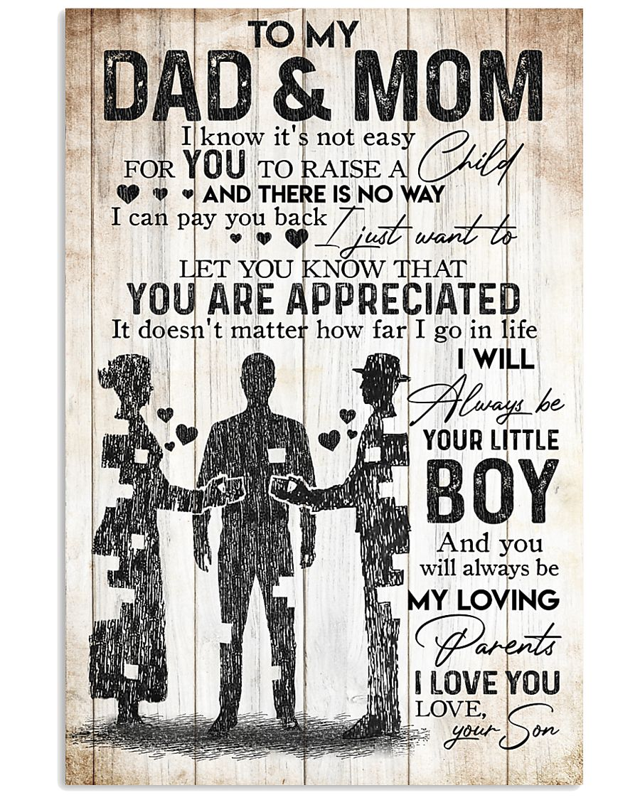 SON TO MOM AND DAD 16x24 Poster