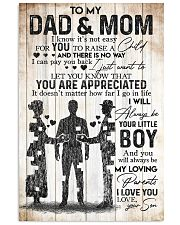 SON TO MOM AND DAD 16x24 Poster front