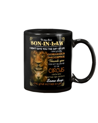 MUG - TO MY SON-IN-LAW - LION - GOD - CIRCUS