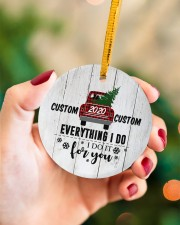 To Wife - Christmas - Red Truck - Personalized Circle ornament - single (porcelain) aos-circle-ornament-single-porcelain-lifestyles-09
