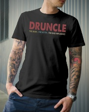 Druncle The man The myth The bad influence Classic T-Shirt lifestyle-mens-crewneck-front-6